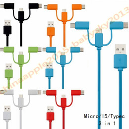 Wholesale 3in1 Usb Data - For samsung s6 s7 s8 note 8 usb cable 1m 3ft 3in1 micro type c usb data charger cables for LG htc android phone 7 8