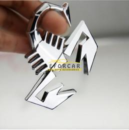 Wholesale Auto Emblem Adhesive - Cool Metal 3D Scorpion Car Auto Badge Emblem Logo Sticker Adhesive