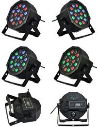 Wholesale Led Par 3w Price - Wholesale-12pcs  Best Price 18 x 3W RGB Flat LED Par Lights With DMX512 Master-Slave Stand,Megar Par Can moving head light led lamps