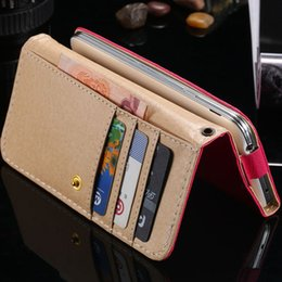 Wholesale Galaxy S3 Wallet Case Multifunction - Multifunction! Litchi Grain Case for Samsung Galaxy S5 S4 S3 for iphone 6 4 4s 4g 5 5s 5g Wallet Leather Cover Card Slot