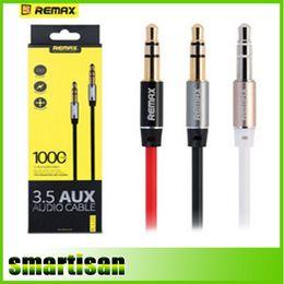 samsung tab con cable de datos 3m Rebajas REMAX 3.5mm Aux Cable Audio 1m de longitud cable de audio de música para iphone ipod ipad mp3 mp4