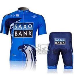 Wholesale Bank Bike Jersey - Hot Sale SAXO bank Blue Cycling jersey bicycle bike wear shirt & bibs shorts & shorts Size :S ~XXXL