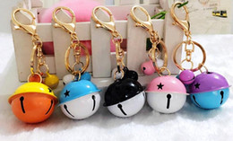 Wholesale Personalised Bag - Wedding Party Favors Christmas Bells Keychain Keyring Key Chain Ring Bag Charm Pendants women child Birthday personalised Gift