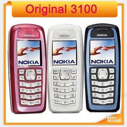 Wholesale Mini Gsm Cameras - Original Nokia 3100 GSM mini 1.5 inch single sim single core refurbished mobile phone