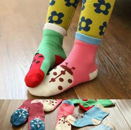 Wholesale Children Socks Wholesale Floor - 3 Size Unisex Baby socks floor sock baby boys socks girls kids Children cute animal Cartoon socks beetles socks cotton Free Shipping