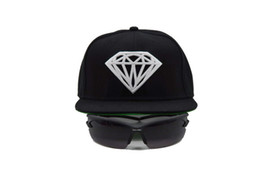 Wholesale Cheap Diamond Snapbacks - Free shipping Wholesale Diamond Snapbacks caps Adjustable Cheap Hip Hop Cap for men women Baseball Hats fashion Flat hat sun hats