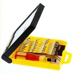 Wholesale Micro Tool Box - 32 in 1 set Micro Pocket Precision Screwdriver Kit Magnetic Screwdriver cell phone tool repair box 83653