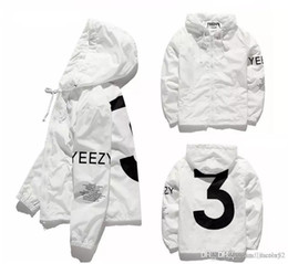 Wholesale Usa Coatings - 2018 YEEZUS Jacket Men KANYE WEST Hip Hop Windbreaker MA1 Pilot Mens Jackets Tour Jaqueta Masculina Season 3 Coat USA size