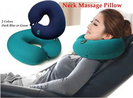 Wholesale Electric Cushion - 2015 Limited Corner Sofa Beauty Salon Furniture New U -type Electric Massager Pillow Cushion Office &car Nap Neck Care Six-speed Adjustable