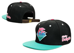 Wholesale Dolphins Snapback - Brand New Pink Dolphin Snapback Caps Embroidery Graphic Hats Adjustable Hat Snap Back Hats TYMYP 11