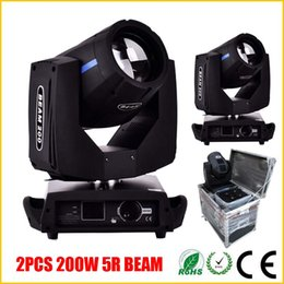 Wholesale 5r Beam - 2pcs Lot Beam 200W 5R Moving Head Light With Flight Case Package For Disco Bar Club DHL Free Shipping