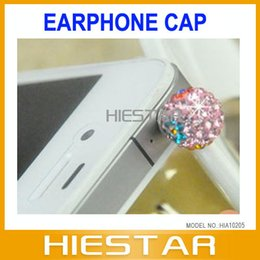 Wholesale Dust Proof Ear Plug - Wholesale-Diamond 3.5mm Jewelry Dust-Proof Ear Cap Plug for 3.5mm earjack and iPhone4 4G 4S 5 5G