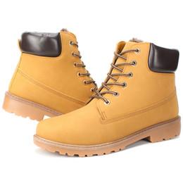 Wholesale Clear Red Rainboots - New HOT big size leather men boots winter man shoes ankle boot men's snow shoe martin cowboy autumn man fur velvet flats