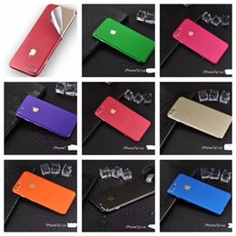 Wholesale Brush For Body - Full Body Sticker Film Brush Ice Stickers Cover Protective For Iphone X 7 6 6S Plus Skin Colorful With Retail Package 100pcs