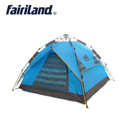 Wholesale Ultralight Backpacking Equipment - Outdoor tent fast open 3-4 person Ultralight Quick automatic pop up waterproof windproof camping tent double layer outdoor equipment shelter