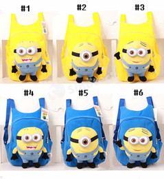 Wholesale Despicable Backpack School - Fashion Cartoon Despicable Me Backpack Cute Children Plush Minions Animals Toy School Bags Shoulders For Kids Boys Girls Factory Free EMS