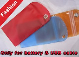 Wholesale Stylus For Phone Packaging - 12*8CM Waterproof PVC Zipper Plastic Retail bag Colorful Packaging Package For Celular Phone battery USB Cable Stylus Pen Jelly High quality