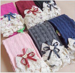 Wholesale Tight Elastic Dresses - 2016 Spring Autumn Girls Crochet Pants Lace Elastic Leggings for Dress Children Girls Clothes 6 Color K6810