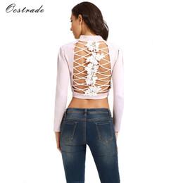 Wholesale Back Zipper Turtleneck - Wholesale- Ocstrade New Jacket Women 2017 Blush Open Back AND Lace up Party Suedette Jacket