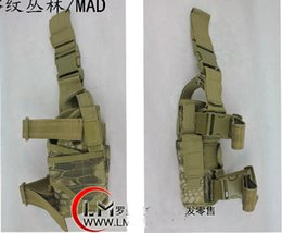 Wholesale Pistol Gun Games - Tactical Rattlesnake Mandrake Outdoor Hunting Puttee Thigh Leg Pistol Gun Holster Pouch Bag Wrap-around for CS war game