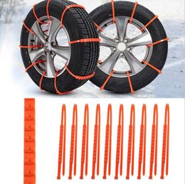Wholesale Wholesale Winter Tires - Hot 10Pcs set Winter Anti-skid Chains Car Truck SUV Snow Wheel Tyre Tire Thickened Tendon Wholesale Best Price