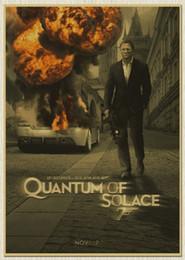 Wholesale Famous Craft - James Bond 007 Movie paper Poster Decor Pub House Wall sign Painting Craft 30*42CM Size
