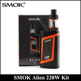 Wholesale Metal Alien - SMOK Alien Kit 220W ALIEN Box MOD & 3ml TFV8 Baby Tank with 0.4ohm 0.15ohm Core VS SMOK Alien AL85