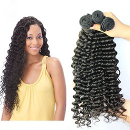 "Wholesale Deep Wave Peruvian 5a - new 5A Best Selling 8""-30"" Indian,Peruvian,Malaysian , Brazilian Hair weft Wavy 100g pcs 3Pcs Braziliandeep Wave Virgin Human Hair Products"