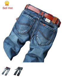 Wholesale New Designer Jeans For Men - Wholesale- New Fashion Autumn Winter Designer Famous Brand Men For Jeans Mens Jeans Retail Fashion True Summer Style Sports 28-40