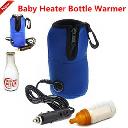 Wholesale Baby Milk Bottle Bag - Portable 12V Car Heater Bottle Warmer Mini Linear Temperature Programmer Bag Baby kid Milk Bottle Warmer Heater Universal