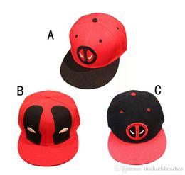 Wholesale Marvel Hats - EMS 3 Design Men Women Marvel Deadpool Hats 2016 New arrival Superhero cartoon Deadpool Snapback Cap Hip-hop Hats B