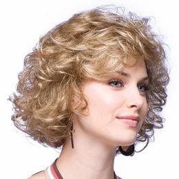 Wholesale Wig Short Blonde Heat - 2016 Newest Fashion Women Ladies Pro Salon Short Wig Wave Blonde Hair Heat Resistant Synthetic Wig