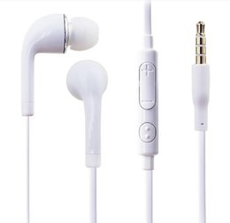 Wholesale Galaxy S3 Pack - Cheap 3.5mm In Ear Earphone J5 Music Headset with MIC & Volume Control Headphone for Samsung Galaxy S4 S5 S3 S6 w  Retail Package (NOT PACK)