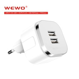 Wholesale Brands Bank - 2 in 1 5V 2.4A Phones Charger USB Wall Chargers Dual Ports EU Plug Power Banks for mobile apple iphone 8 X