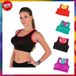 Wholesale 34a Padded Bra - 2015 Women Padded Sports Yoga Bra Active Vest Shaper Underwear Bra shaper Push up Full Cup Y-Line Straps Sports Bras TP009