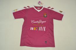 Wholesale Pinks Jerseys - 17-18 spain LIGA adelante Real Valladolid away jerseys pink shirt magenta rugby jerseys Jaime Mata Michel Guitan Hervias