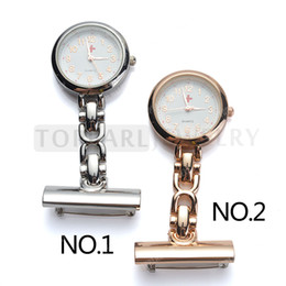 Wholesale Pocket Nurses - Teboer Jewelry 2pcs Red Cross White Dial Quartz Pin Brooch Nurse Pocket Watch LPW628