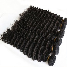 Wholesale Hair Weave Supplies - Supply Peruvian remy Hair weaves Deep Curly 3pcs Hair products Brazilian deep wave virgin hair extensions Unprocessed Malaysian Human wefts