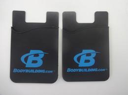 Wholesale Gift Card Sticker - Promotional gift 3M sticker silicone wallet credit card holder,3m sticker smart wallet mobile card holder for cell phone for samrtphone