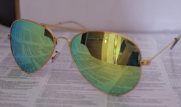 Wholesale White Glass Film - 5pcs lot AAA+ quality Unisex sunglasses Color film Lens men's sunglasses Mirror sunglasses Woman's Color film sun glasses With box