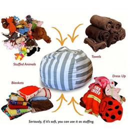 Immagazzinaggio degli attrezzi online-Sacchetto di fagioli di stoccaggio per bambini peluche giocattoli Beanbag sedia 80 cm ripiene animali stuoie stuoie portatile creativo di stoccaggio vestiti strumento 20pcs OOA3372