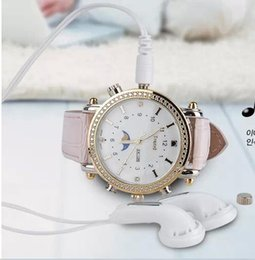 Wholesale Thinnest Waterproof Wrist Watch - Newest Women Girl Lady Wrist Watch 8GB HD SPY WATCH with MP3 Hidden CAMERA Waterproof Wristwatch Mini DV DVR Ultra-thin Watch Cam