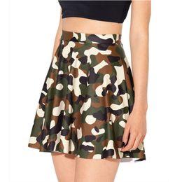 Wholesale Female Camouflage Clothing - 2018 Fashion Short Skirt Women The New Summer Black Milk Skirt Style Camouflage Skirt Clothes for Female Sexy