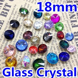 Wholesale Rivoli Jewelry - Wholesale-116Pcs lot,18mm Rivoli Crystal Fancy Stone Glass Beads 1122 For Jewelry Making,Garment Use 22 Colors For Choice,