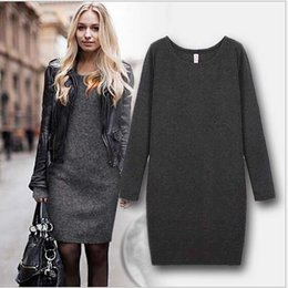 Wholesale Winter Prom Dress Warm - Winter Women Dresses Plus Size Clothing Sexy Long Sleeve Warm Fleece Casual Evening Club Party Prom Dress Black Bangage Bodycon Dress D11