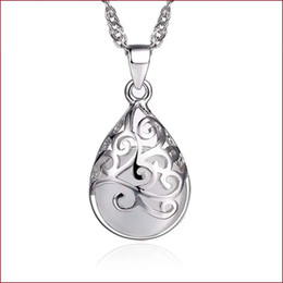 Wholesale Moonlight Silver - 925 sterling silver items jewelry charm pendant statement necklaces Moonlight opal stone wedding ethnic vintage fashion