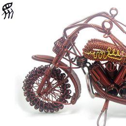 Wholesale Handmade Metal Motorcycles - DIY Handiwork Motorcycle Model unique gifts handmade cotton quilt model car handmade baby gifts motor bicycle Model