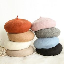 Wholesale Korean Winter Ladies Fashion Woolen - 2017 autumn and winter new Korean version of the wild berets ladies retro fashion woolen casual painter cap japanese simple bud cap tide