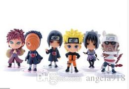 Wholesale Naruto Figure 6pcs - Wholesale-6pcs Full Set Q Edition Naruto Anime Action Figures Collection PVC Naruto Figures Model toy Set Free Shipping
