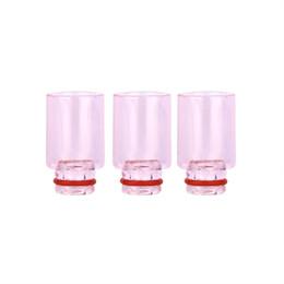 Капельное острие пирексное стекло широкое отверстие онлайн-Красивые Pyrex Glass Drip Tips Розовый Розовый Широкий Bore Drip Tip для 510 EGO Vapor Atomizer Mouthpiece RDA DCT Protank SubTank Vaporizer